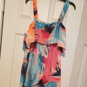 Cute vibrant short boutique dress